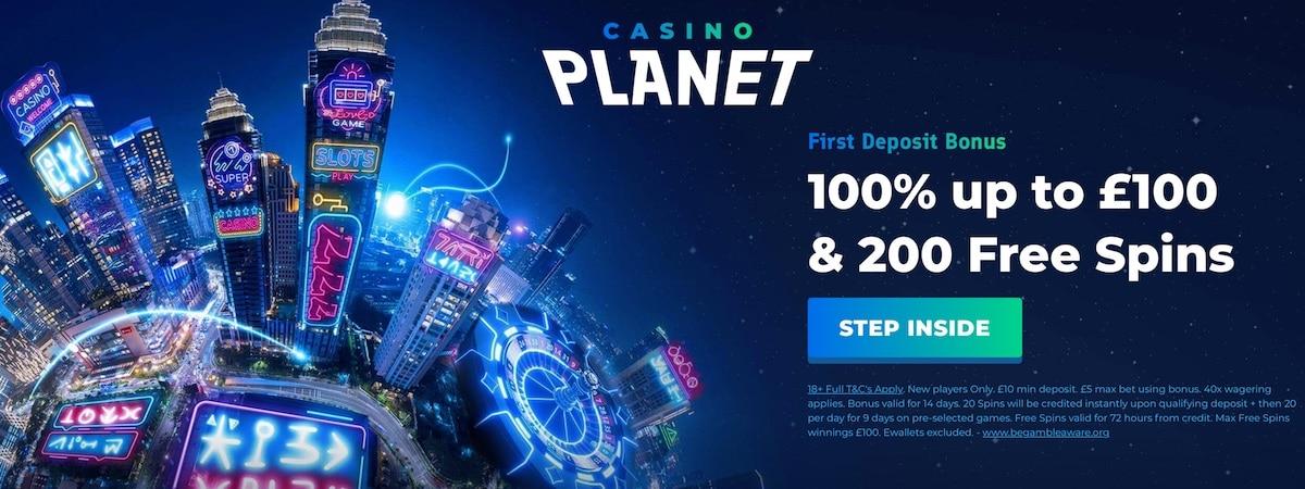 Casino Planet UK Bonus